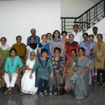 Staff of Nitya Gurukula and participants in TA and sandplay workshop Coimbatore 2011
